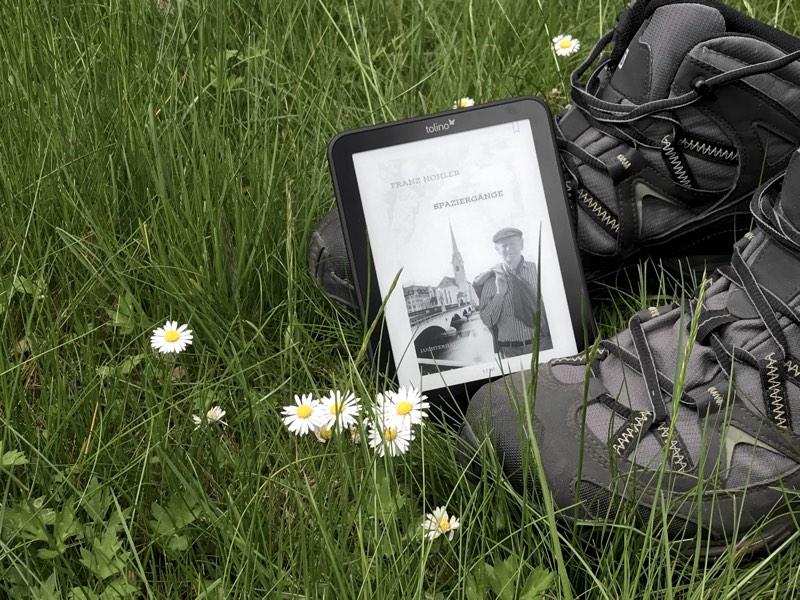 """Tolino mit Coverbild von Franz Hohler """"Spaziergänge"""""""